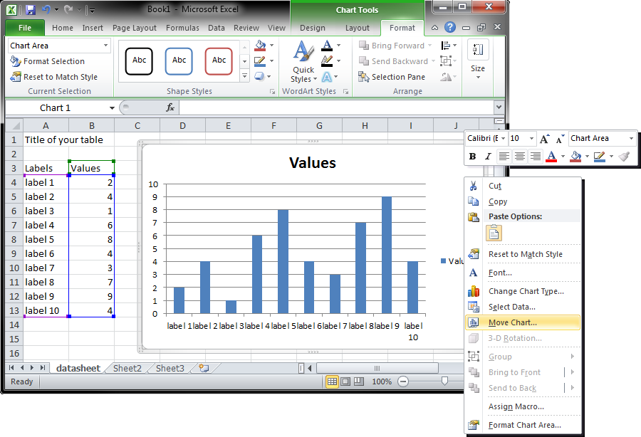 Creating charts in Excel using Apache POI
